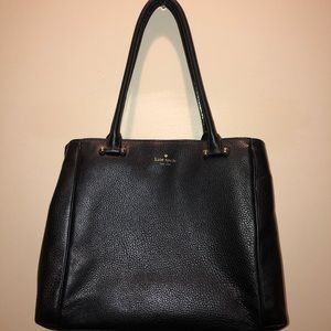 Kate Spade black pebbled leather shoulder bag